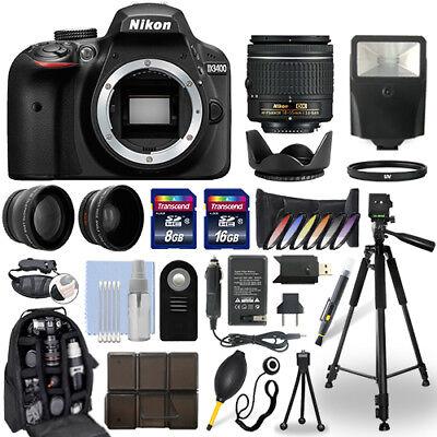 $499.95 - Nikon D3400 DSLR Camera + 18-55mm NIKKOR Lens + 24GB Multi Accessory Bundle
