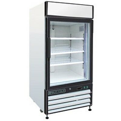 New Maxx Cold Single Glass Door Reach-in Freezer 16 Cu Ft Mxm116f Free Shipping