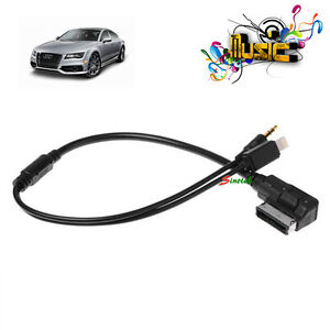 audi vw ipod iphone 5 5s 6 plus audio ami cable adaptor. Black Bedroom Furniture Sets. Home Design Ideas