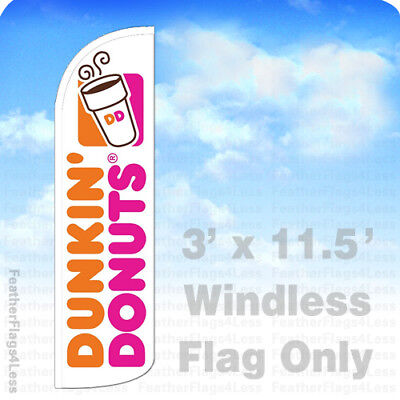 Dunkin Donuts - Windless Swooper Flag Feather Banner Sign 3x11.5 Wq