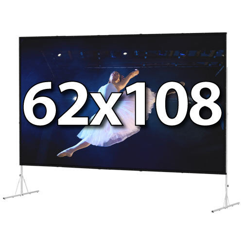 DA-LITE 88605 - FAST-FOLD DELUXE 62x108 COMPLETE KIT - FRONT PROJECTION - T-LEGS