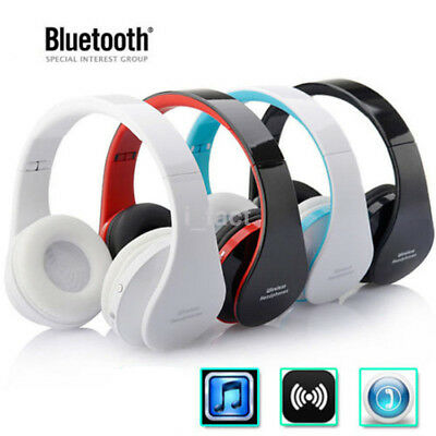 1Pc Foldable Wireless Bluetooth Super Bass Stereo Headset Headphone Earphone US