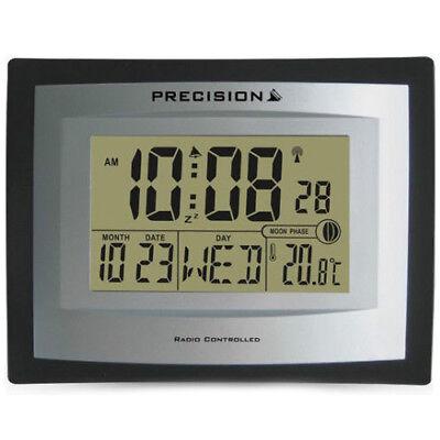 Precision Radio Controlled Digital Moon Phase Alarm Wall Clock - PREC0103/AP046