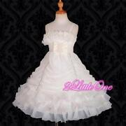 Ivory Organza Flower Girl Dress