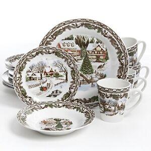 Gibson Christmas Dinnerware | eBay