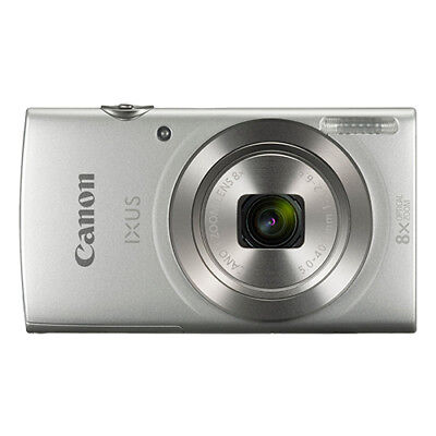 Canon IXUS 185 / ELPH 180 20.0MP Digital Camera 8x Optical Zoom Silver for sale  Shipping to India