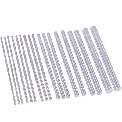 Swpeet 18pcs Assorted Sizes Aluminum Round Rod Lathe Bar Stock Kit Diameter 2...