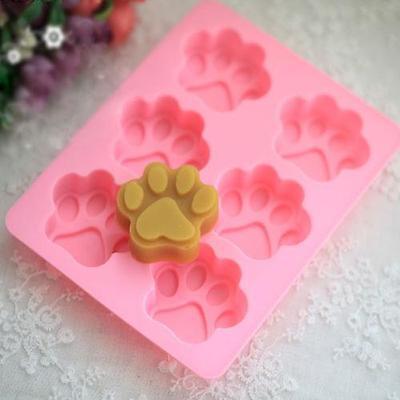 1pcs DIY Dog Cat Paw Silicone Fondant Mold Chocolate Cake Kitchen Cook Tool Hot
