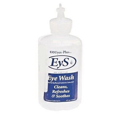 EYES-PLUS LLC EYS EYE WASH STERILE BUFFERED ISOTONIC SOLUTION CLEANS AND SOOTHES