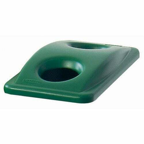 Bottle & Can Recycling Top For Slim Jim Containers, Green
