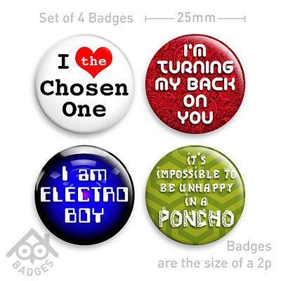 "MIGHTY BOOSH - PONCHO Chosen One ELECTRO BOY 1"" Badge - Set of 4 x 25mm Badges"