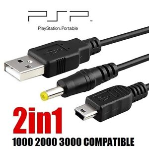 SONY PSP 1000 2000 3000 USB POWER SUPPLY CABLE + USB MICRO CORD