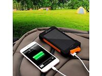 Solar powered USB power bank charger - dual USB 10,000mAh