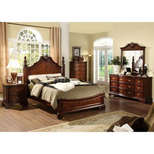solid wood bedroom set ebay. Black Bedroom Furniture Sets. Home Design Ideas