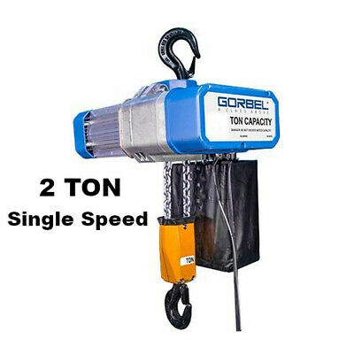 Gorbel Gs Electric Chain Hoist 2 Ton Capacity Single Speed