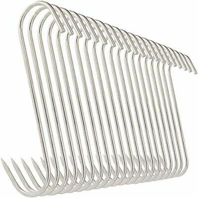 Meat Hooks Stainless Steel Butcher Processing Reusable Gloss Type Finish 20 Pack