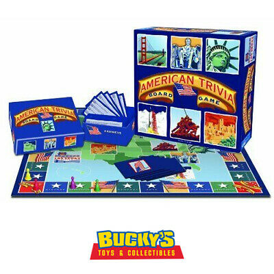 American Trivia Board Game US Geography History Arts Cards Family School Fun