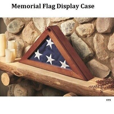 USA American US Folded Memorial Flag Triangle Display Case Box For Burial Casket](Flag Display Box)