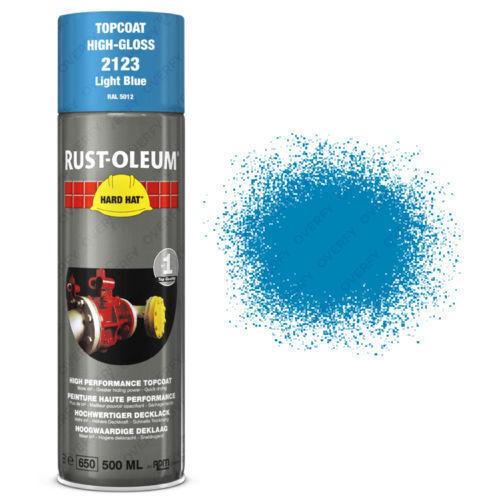 x5 Rust-Oleum Light Blue Industrial Spray Paint Hard Hat Brand 500ml RAL 5012