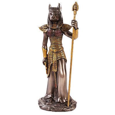 Bastet Egyptian Goddess Figurine Bronze Powder Cold Cast Resin Statue