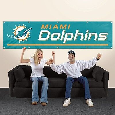 Miami Dolphins Applique and Embroidered 8 Foot -
