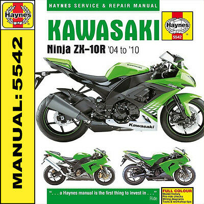 Kawasaki ZX-10R ZX10R ZX10 2004 - 2010 Haynes Manual 5542 NEW