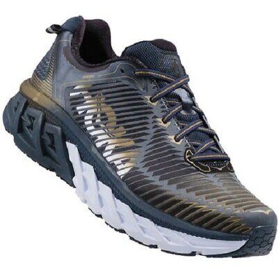 HOKA ONE ONE Mens Arahi Midnight Navy/Metallic Gold Running Shoe Trainers Size 8