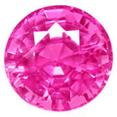 9.5 mm 3.8 ct round brilliant Pink lab created Sapphire