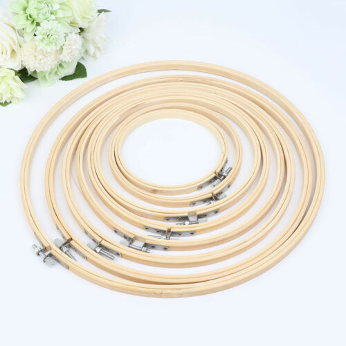 Wooden Cross Stitch Machine Embroidery Hoop Ring Bamboo Sewi