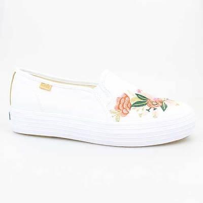 Schuhe Keds Schuh (KEDS DAMEN SCHUHE TRIPLE DECK RIFLE PAPER WHITE WEISS CANVAS WF58368)