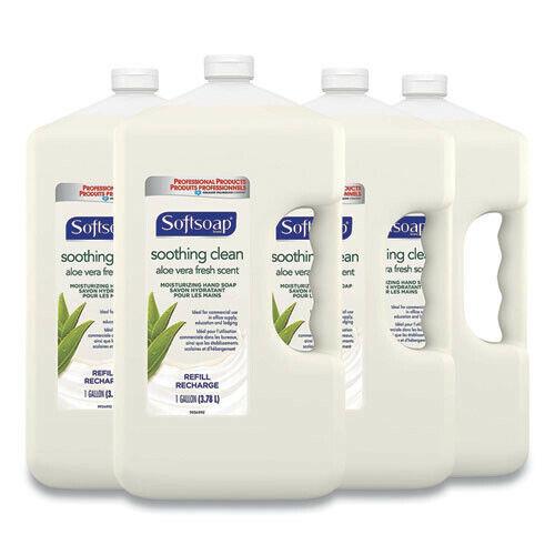 Softsoap 01900CT 4/Carton 1 gal. Liquid Hand Soap Refill w/ Aloe New