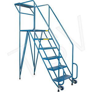 USED ROLLING LADDER ON SALE. MECHANICS MOBILE LADDER. SAVE $ 315 Kitchener / Waterloo Kitchener Area image 1