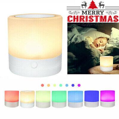 Control Táctil LED Noche Luz Recargable Mesita de Regulable Colores Lámparas