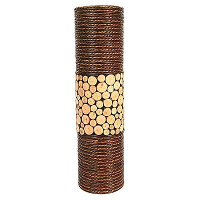 "Hosleys Natural Cylinder Floor Vase 20"" High"
