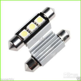 2 x 3 SMD LED HIGH POWER 5050 FESTOON ERROR FREE 39mm LIGHT XENON WHITE BULB.239