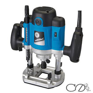 """1500W 1/2"""" Inch Heavy Duty Plunge Router Cutter Electric 240V New with Warranty"""