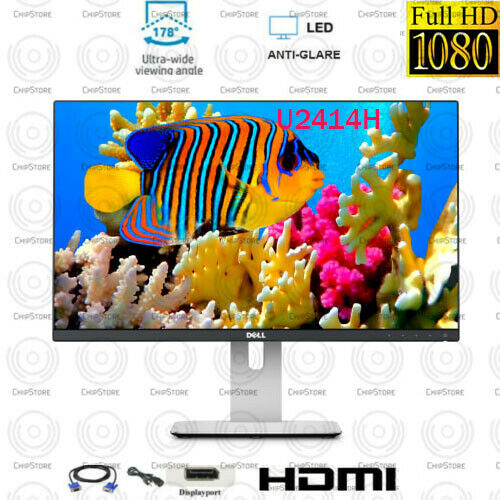 Dell 24 inch 1920 x 1080 FHD 16:9 LCD Monitor with stand and cables