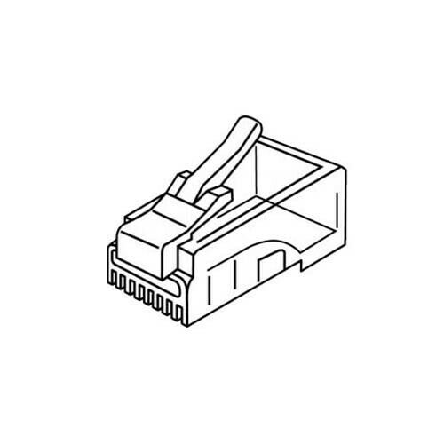 Platinum Tools 106143J RJ-45 (8P8C) Connectors Flat-Stranded. 100/Jar.