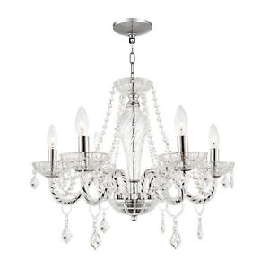 Elegant 6-Light Crystal Chandelier - Spotless & Ready To Install