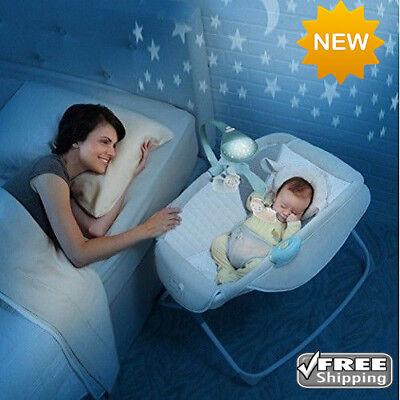 Moonlight Rocking Baby Sleeper Bassinet Cradle Newborn Crib Bed Basket NEW