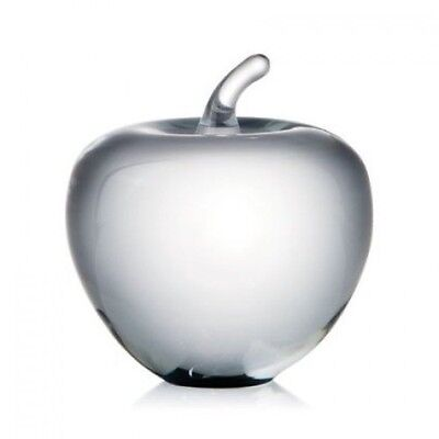 Rogaska Crystal Apple Sculpture Paperweight Large New In Box   400004685
