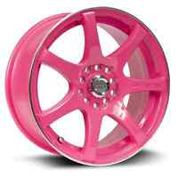 "17"" Pink or Blue Wheels 5x114.3 or 5x100"