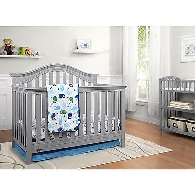 Graco Bryson 4-in-1 Convertible Crib, Pebble Gray New, **Mattress Included**