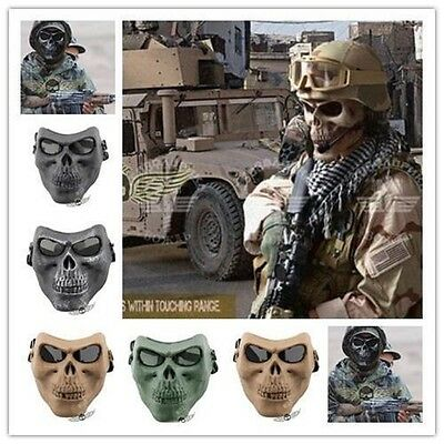 New Skull Skeleton Full Face Mask Hunting Tactical Military Costume Halloween](Plastic Skull Mask)