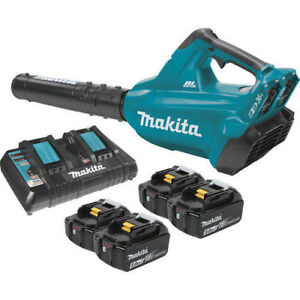 Makita Brushless Cordless Blower Kit with 4 Batteries (5.0Ah) XBU02PT1 New