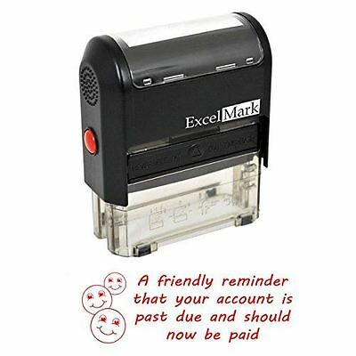 NEW ExcelMark FRIENDLY REMINDER PAST DUE Self Inking Stamp A1848 | Red Ink](Friendly Reminder)