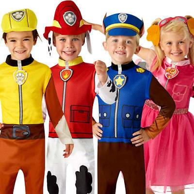 Paw Patrol Kids Fancy Dress Cartoon Book Day Police Dog Childrens Costume - Girls Dog Costume