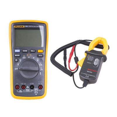 Fluke 17B+ Digital Multimeter Temperature  + MS3302 AC Transducer Clamp Meter