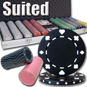 500 piece 11.5 gram casino poker chips set