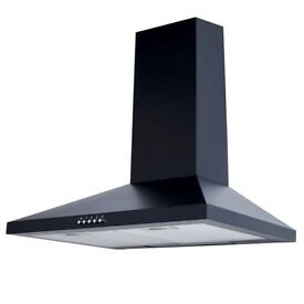 New 60cm Chimney Cooker Hood Kitchen Extractor Fan In Black(Graded).